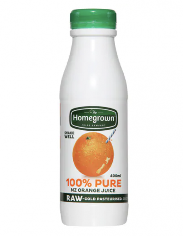 400ml individual bottles of Orange Juice